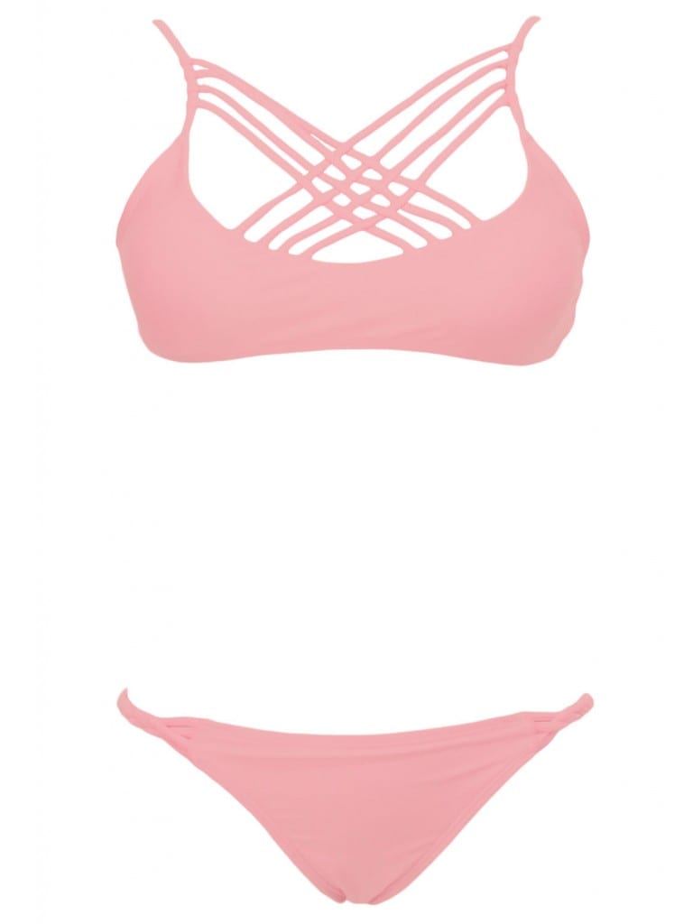 swimsuit trend costum de baie ieftin se poarta plasa sireturi linii wildfashion blog blogger roz cu dungi