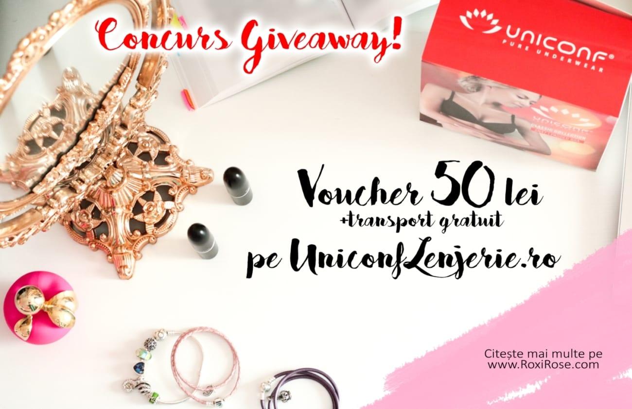 voucher reducere discount 50 lei uniconf 2016 roxi rose lifestyle blog fashion romania lenjerie bumbac
